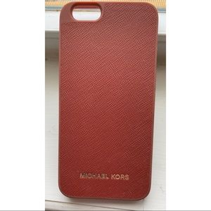 🥀Michael Kors Leather/Burgundy IPhone 6/6s Case🥀